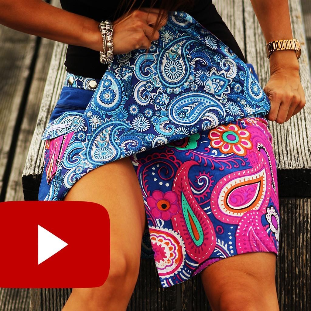 How do I properly wear G.Gauri reversible skirt?